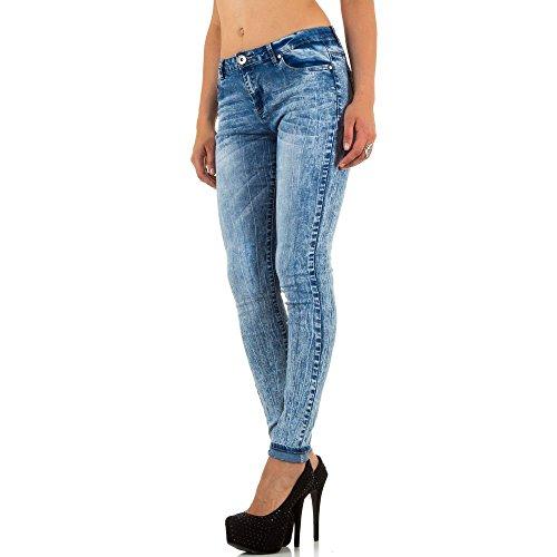 damen-jeans-high-waist-used-look-skinny-jeans-kl-j-j072-blau-42