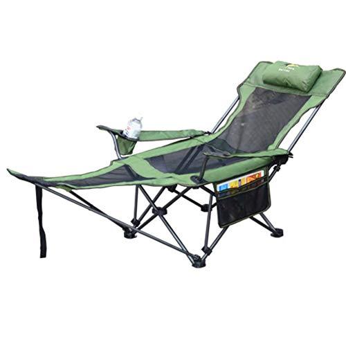 DOKJ Campingstuhl,Verstellbarer Klappstuhl Liegestuhl Gartenstuhl, mit Fußstütze, stabiles Gestell für bis zu 130 kg, für Reisen/Strand/Freizeit