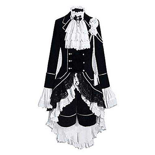 Butler Black Kostüm - Hzd Bestes Black Butler Ciel Phantomhive Victoria Cosplay Kostüm,M
