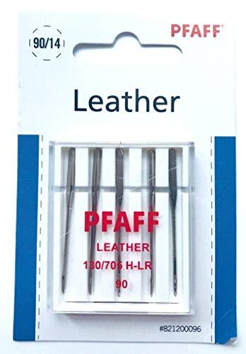 Leder-hobby - (Original Pfaff Nähmaschinen Nadeln Leder 130/705 H-LR Stärke 90 für Pfaff Hobby Serie)