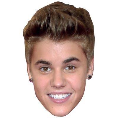 Justin Bieber Maske aus Pappe (Bieber Kostüme)