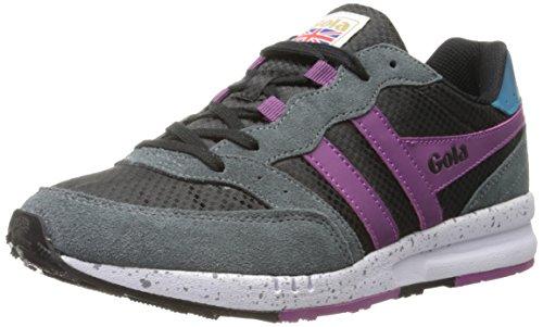 Gola - Samurai, Sneakers da donna, nero (black/graphite/berry), 36