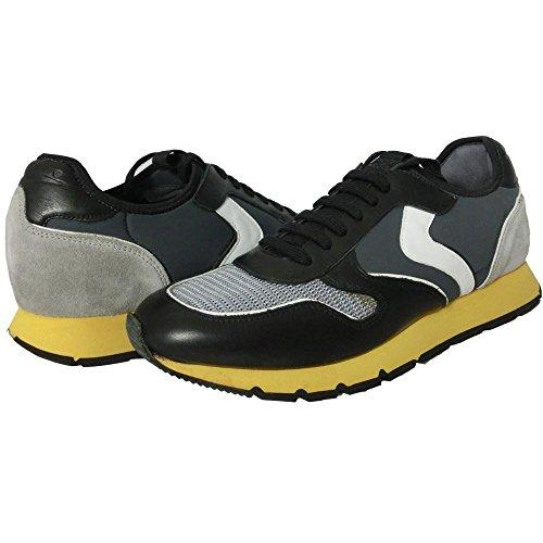 Voile blanche Uomo 0686 - Scarpe sneaker Liam dive vite/net 4/lycr 8 nero (40)