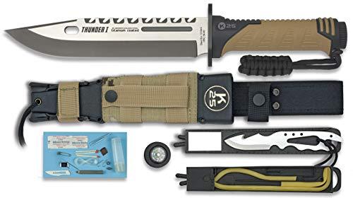 K25-32018 - K25.Cuchillo Thunder I. Camo Sand. H: 9 - Herramienta para