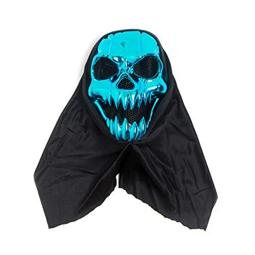 Galvanik-Kürbis-Maske, Halloween-Kostüm-Partei-halbes Gesicht lustige Horror-Partei-Versorgungen (Blau)