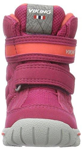 Viking Domino, Bottes courtes mixte enfant Rose - Pink (Fuchsia/Coral 1751)