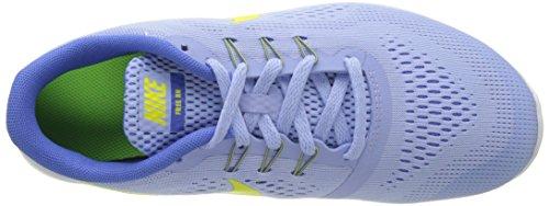 Nike Free Rn, Chaussures de Running Mixte Enfant Bleu (Aluminum/Electrolime/Medium Blue/Off White)