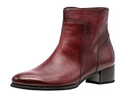Gabor Damen Bootie 35.500, Frauen Stiefelette,Stiefel,Boots,Halbstiefel,Bootie,gefüttert,Winterstiefeletten,Dark-red (Effekt),42 EU / 8 UK