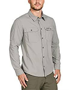 Jack Wolfskin Mosquito Safari Chemise pour homme Gris Humid Sand XXL