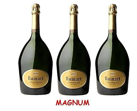 Lot de 3 Magnum de Champagne R de Ruinart 1.5L