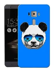 "Humor Gang Chilled Out PandaPrinted Designer Mobile Back Cover For ""Asus Zenfone 3 Ze552kl"" (3D, Matte Finish, Premium Quality, Protective Snap On Slim Hard Phone Case, Multi Color)"