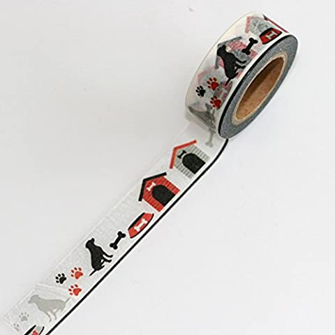 Washi Tape Paper tape Dogs paw prints and kennels 15