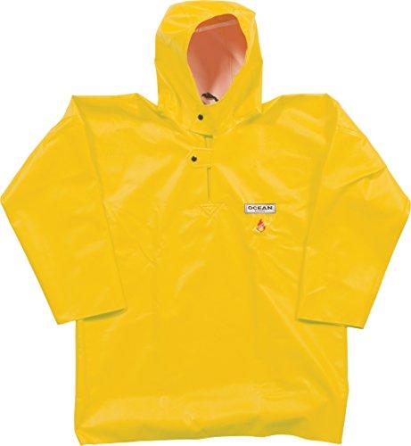 Ocean Classic Smock - Fischerbluse aus PVC auf Baumwollträger. DAS Ölzeug für den Profi (S, gelb)