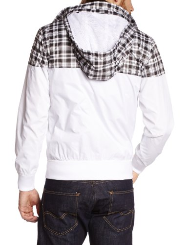 Wrung - bombster - manteau long - synthétique - homme Blanc (White)