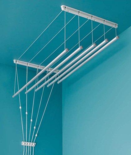Aluminium! Deckentrockner 200 cm x 7 Verstellbare Wäschestangen