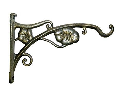 Panacea Produkte 9Zoll Antik Blumen Halterung-Gold -
