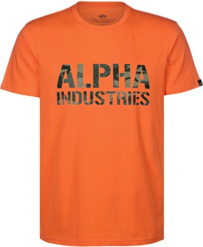 Alpha Industries Camo Print T-Shirt flame orange (Orange Camo Flame)