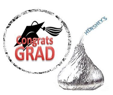 cakesupplyshop-item45072-216-graduation-party-favor-hersheys-kisses-stickers-labels-red-by-cakesuppl