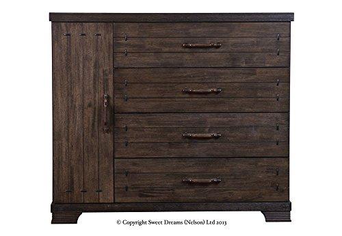 Sweet Dreams Mozart Dark Rubberwood Wooden Double Bed
