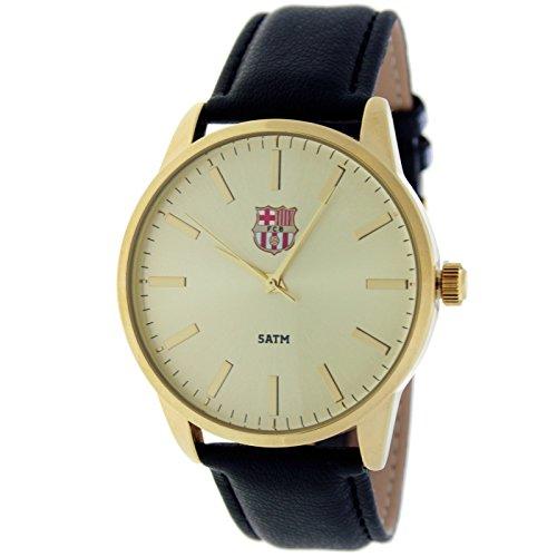 RADIANT Reloj analógico de caballero F.C.BARCELONA – Correa de piel – Dorado – BA-15601 Enzo