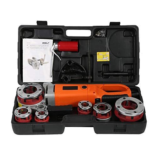 Infilatore per tubi elettrico, infilatrice per tubi elettrica portatile per infusore con 6 filiere(2#)
