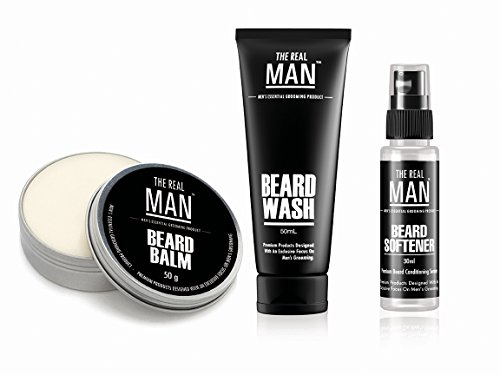 Beard Balm(50g), Beard Wash(50ml) & Beard Softener(30ml) by THE REAL MAN