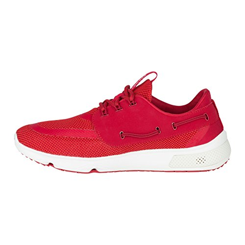 Sperry Athletic Sneakers (Sperry Top-Sider Men's 7 Seas 3-Eye Boating Shoe, Red, 11 M US)