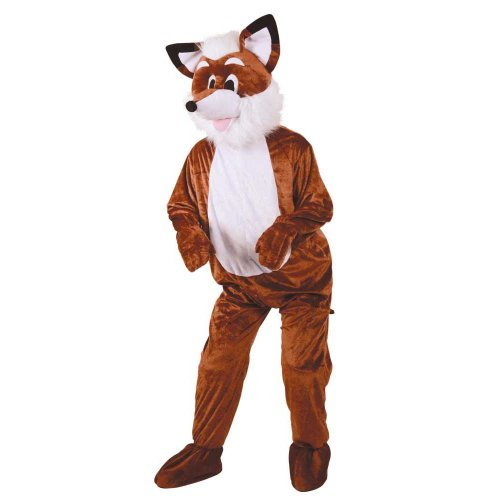 Adult Deluxe Big Head Mascots (Fantastic Mr Fox Mascot) (Mr Fantastic Fox Kostüm)