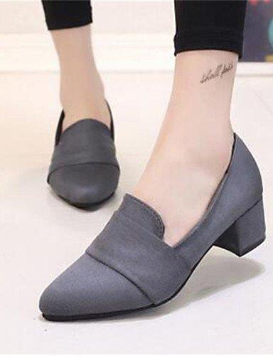 WSS 2016 Chaussures Femme-Bureau & Travail / Habillé-Noir / Rose / Gris-Gros Talon-Talons-Talons-Synthétique pink-us6.5-7 / eu37 / uk4.5-5 / cn37