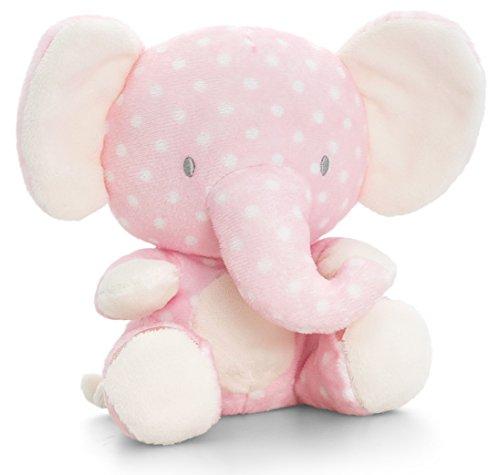 Baby Elefant Rosa | Keel Kuscheltier mit Knisterohren | Dickhäuter Stoffelefant 16 cm ()