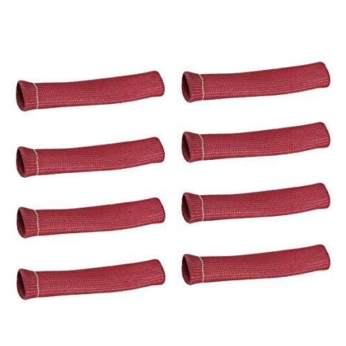 Funnyrunstore 8PCS 2500 ° Spark Plug Wire Boots Protector manica scudo termico della copertura della protezione,Rosso