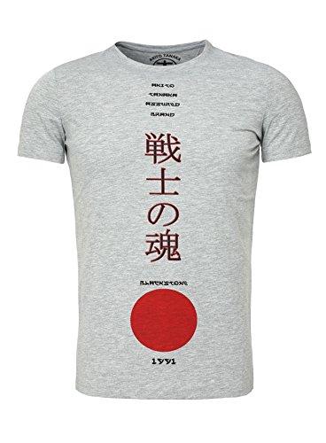 Akito Tanaka Herren T-Shirt LEGEND JPN Slim Fit Japan Style Grau