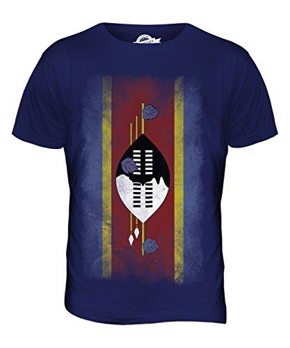 CandyMix Swasiland Verblichen Flagge Herren T Shirt Navy Blau