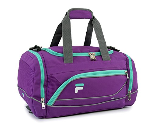Fila Sprinter Small Gym Sport Duffel Bag, Purple/Teal