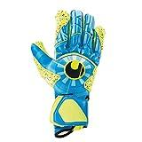 uhlsport Unisex- Erwachsene Radar Control SUPERGRIP HN Torwarthandschuhe, Fußballhandschuhe, blau/Fluo gelb/schw, 10