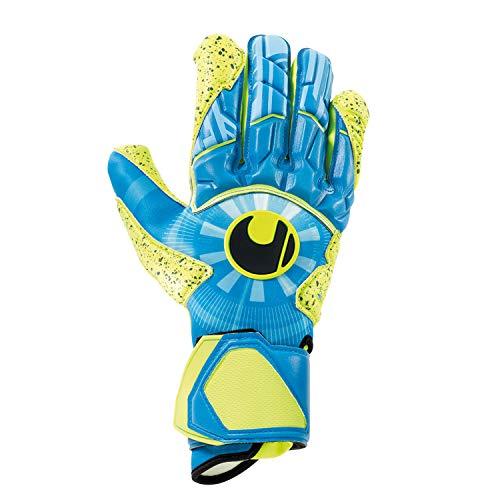uhlsport Unisex- Erwachsene Control SUPERGRIP HN Torwarthandschuhe, Fußballhandschuhe, Radar blau/Fluo gelb/schw, 10