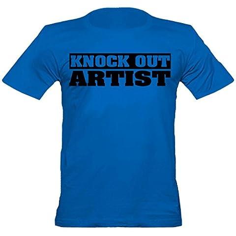"""Urban ShaolinFighter """"Knock-out-Künstler"""" angepasstes T-Shirt, Xtra Xtra Large, Blau"""