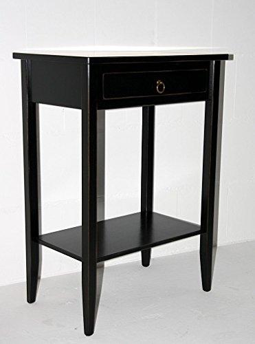 Casa Massivholz Beistelltisch Konsolentisch Wandtisch schwarz Vintage Shabby chic