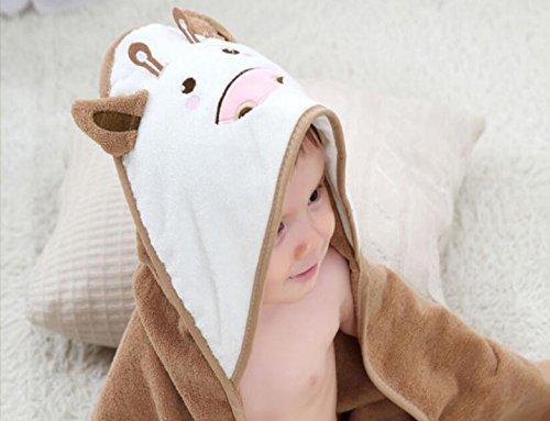 Baby Badetuch Babydecke Kinder Mantel Badetuch Niedlichen Cartoon 2 Farbe Baumwolle Baby Quilt,Khaki-31.5*31.5in