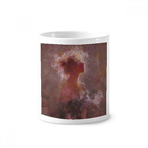 DIYthinker Clair De Lune XJJ Ölgemälde Keramik Zahnbürste Stifthalter Tasse Weiß Cup 350ml Geschenk 9.6cm x 8.2cm hoch Durchmesser De Lune Cup