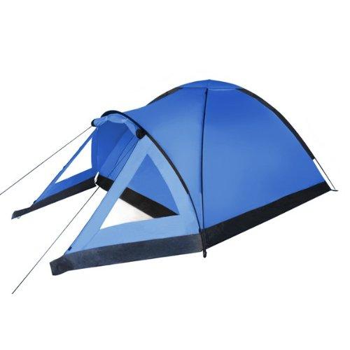 Kuppel-Zelt Sunrise für 3 Personen Wassersäule 3000 von BB Sport, Farbe:blau