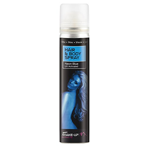 Smiffys Haar- und Body Spray, 75ml, Blau, 37787