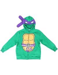 Teenage Mutant Ninja Turtles Kostüm Hoodie Sweatshirt mit Reißverschluss für Jungen