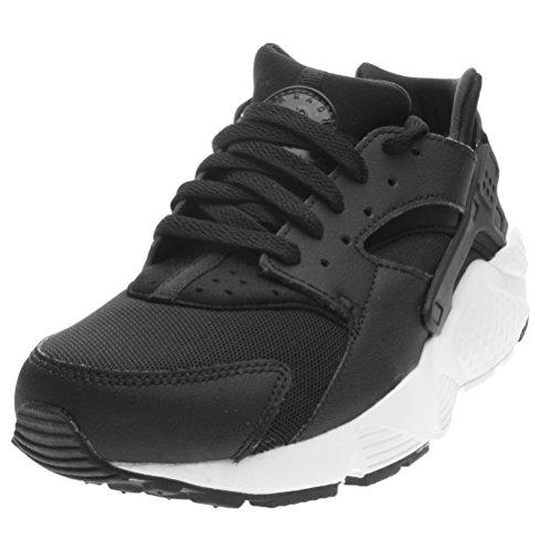 Nike Huarache Run Gs, A Collo Basso Bambino, Multicolore (Black/White), 36 EU