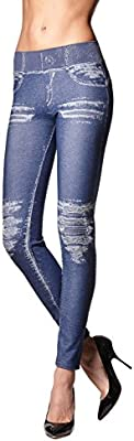 VAQUEROS DE ALGODÓN LEGGINGS MOLDEADORES MALLAS PUSH UP JEENSY - MADE IN ITALY