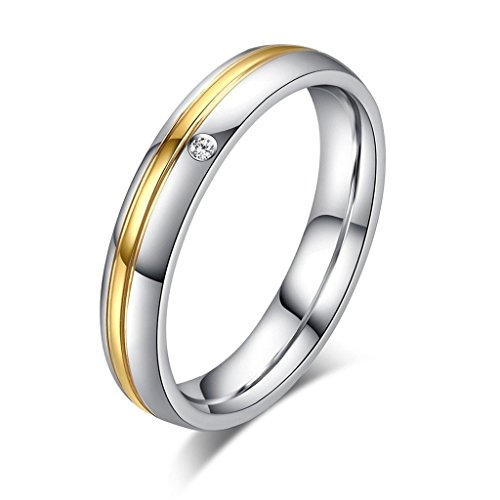 SonMo Ring 925 Herren Herren Ringe Breit Zwei Farbstreifen Partnerringe Breit Gold-Silber Eheringe Carbon für Männer 60 (19.1)