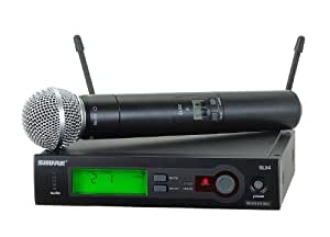 shure slx24 sm58 hand wireless microphone system musical instruments. Black Bedroom Furniture Sets. Home Design Ideas
