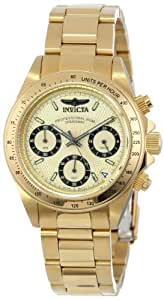 Invicta Women's Quartz Watch with Gold Dial Chronograph Display and Gold Stainless Steel Gold Plated Bracelet 14931