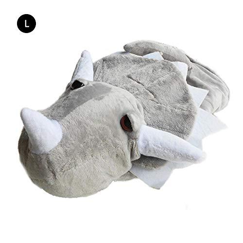 yanyaoo Verklärung pet kostüme Triceratops Pet Kleidung Pet Lustige Kleidung Herbst und Winter Kleidung Dinosaurier Baumwollkleidung