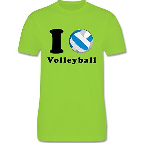 Volleyball - I Love Volleyball - Herren Premium T-Shirt Hellgrün